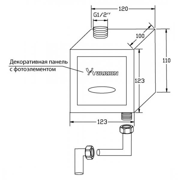 Кран смывной сенсорный для писсуара VARION