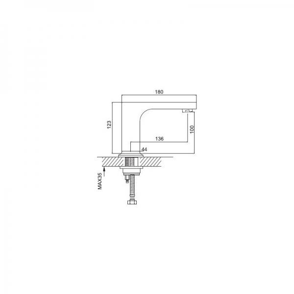 Сенсорный смеситель Frap G519