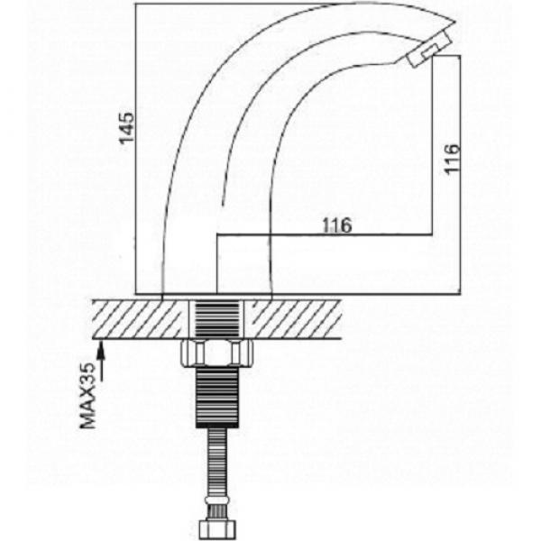 Сенсорный смеситель Frap G517
