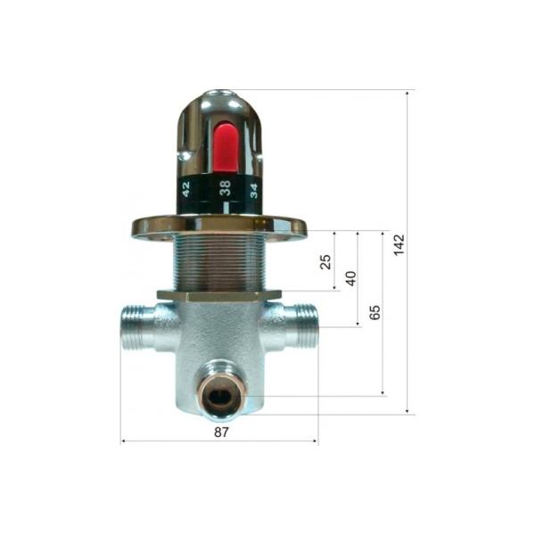 Cмеситель с термо регулировкой для подготовки теплой воды KR533 12D
