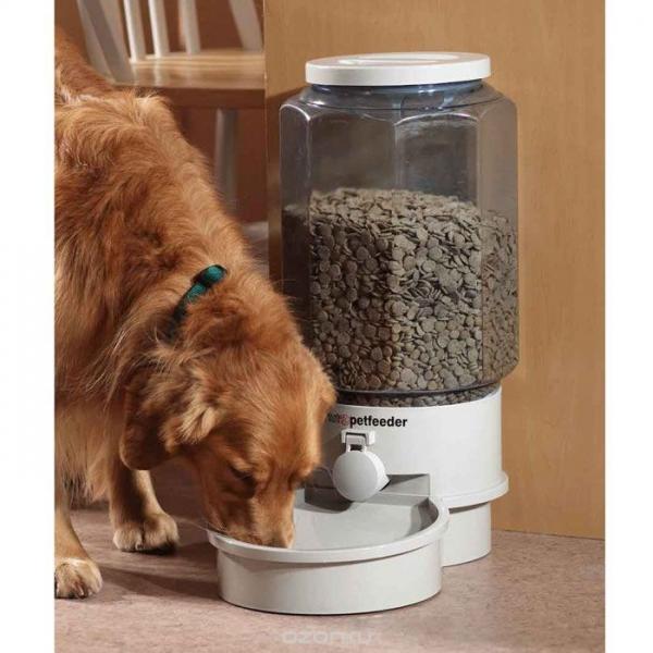 Большая автоматическая кормушка для домашних животных