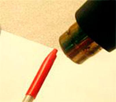 Изолировать с помощью термоусаживаемой трубки