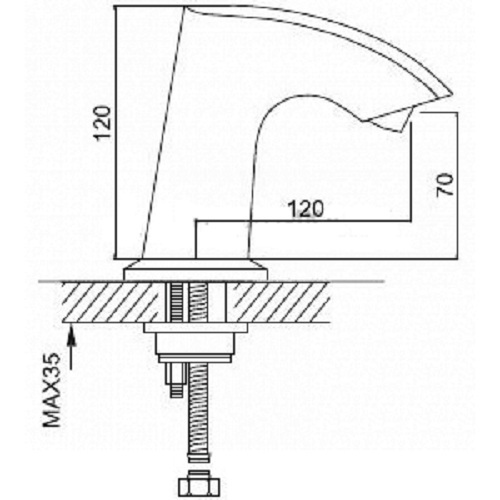 Размеры смесителя Frap G518