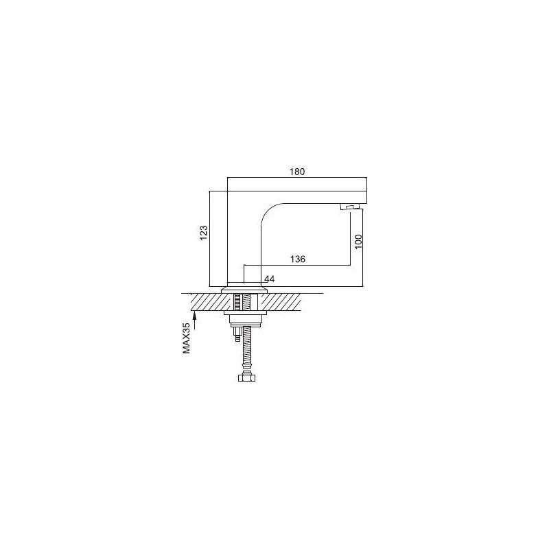 Размеры смесителя Frap G519