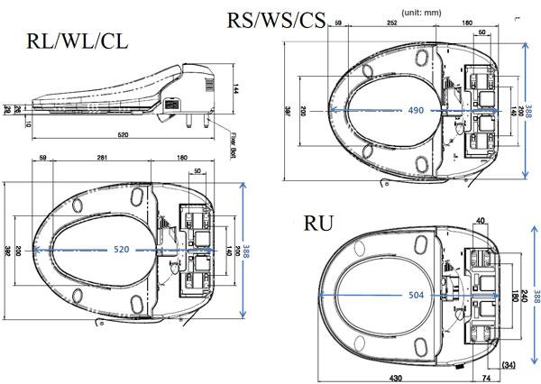 Размеры унитазов подходящих под SensPa